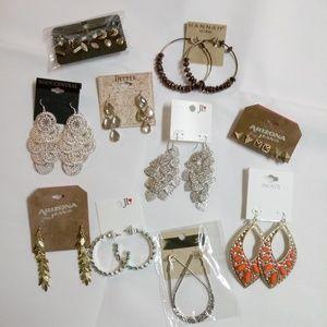 Fashion Earrings Bundle 10 Pair Chandelier BN9